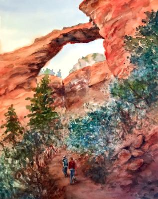 Hikers at Arches