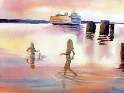 Edmonds Beach Pink Sunset